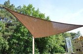 Luxe schaduwdoek Zonnescherm - driehoek - 3.6x3.6x3.6 m - Bruin