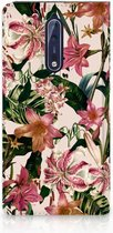 Nokia 8 Uniek Standcase Hoesje Flowers