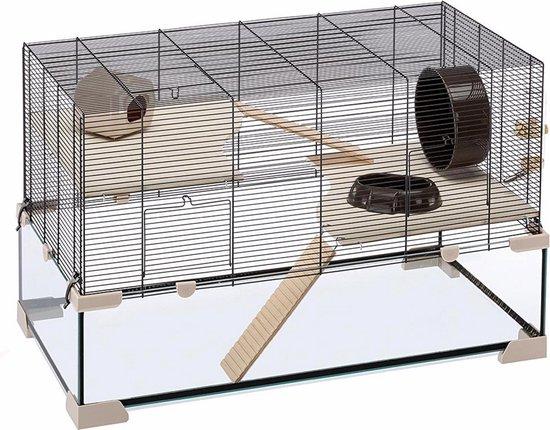 Ferplast Hamsterkooi Karat 100 - 98,5 x 50,5 x 61,5 cm - Beige