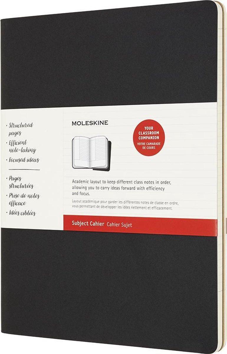 Moleskine Cahier journals- Subject Xxl Black Kraft Brown