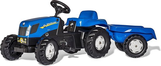 Rolly Toys rollyKid New Holland - Traptractor met Aanhanger