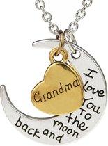 Fako Bijoux® - Ketting - Grandma, I Love You To The Moon And Back