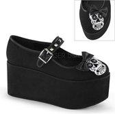 Demonia Lage schoenen -38 Shoes- CLICK-02-3 US 8 Zwart