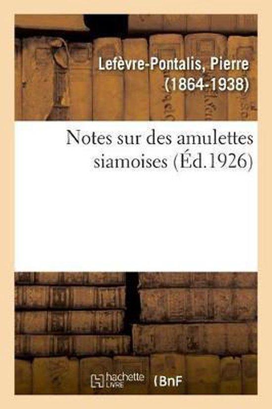 Notes sur des amulettes siamoises
