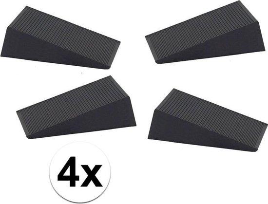 Ben Tools Deurstopper - 6x1,6x7 Cm - 4 Stuks - Rubber