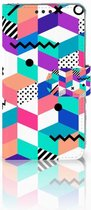 Smartphone hoesje Nokia 3 Book Case Design Blocks Colorful