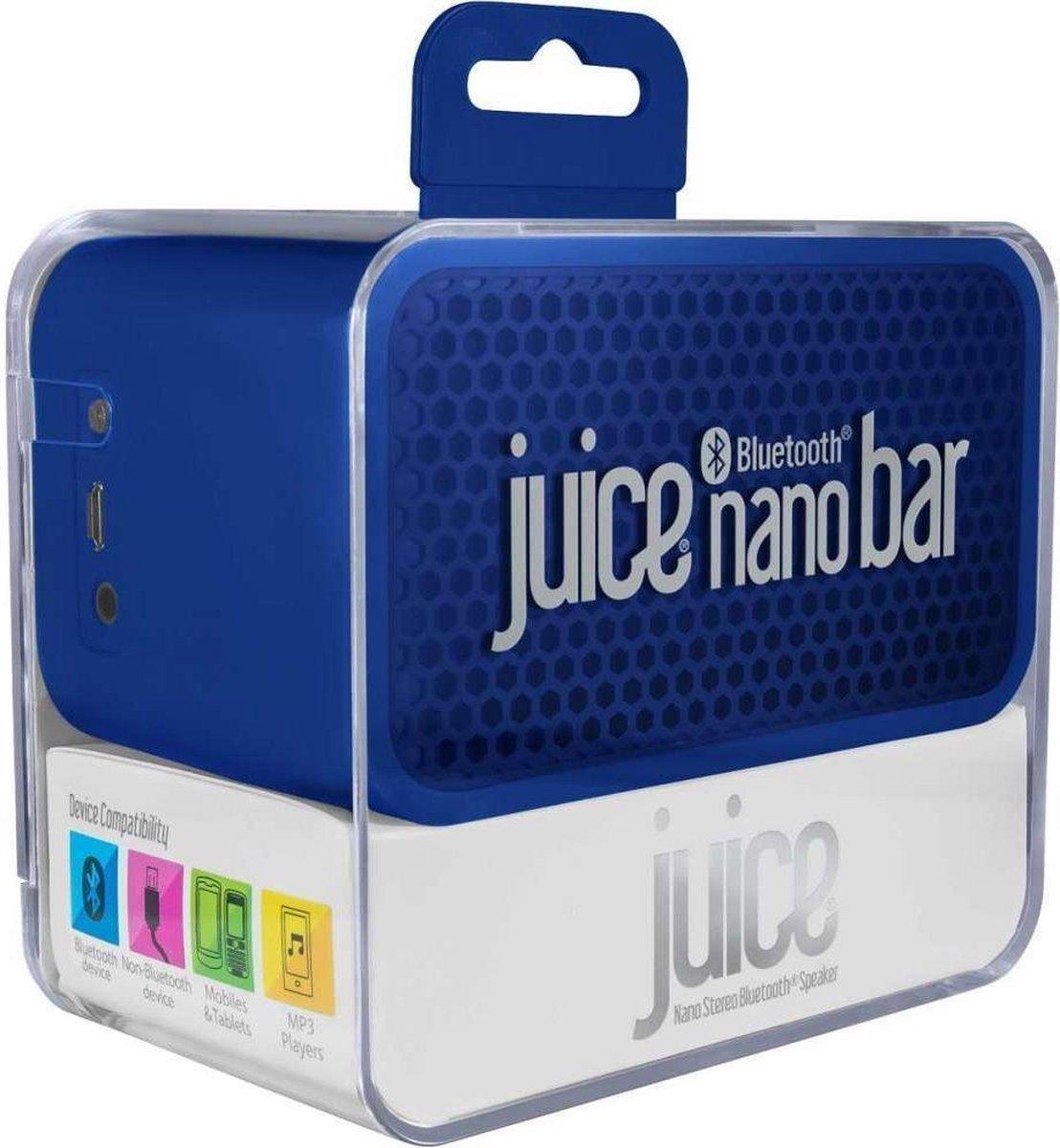 Juice Nano Bar Stereo Bluetooth Speaker - blauw
