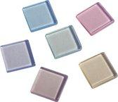 Acryl mozaiek steentjes pastel 205 stuks - hobby artikelen - mozaieken maken