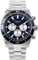 Prisma Heren Explore Navigator Blue horloge  - Zilverkleurig P.1882