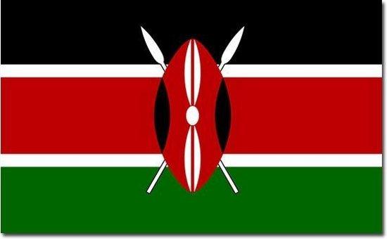 Vlag Kenia 90 x 150 cm feestartikelen - Belgie landen thema supporter/fan decoratie artikelen