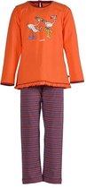 Woody 172-3-PLG-S/564 - meisjes pyjama - oranje – maat 56