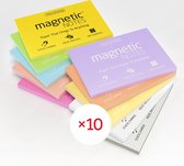 Magnetic Notes, set van 10 notitieboekjes maat M (100x74mm) x 100 sheets, diverse kleuren