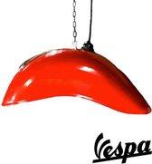 Originele vintage Vespa spatbord lamp rood