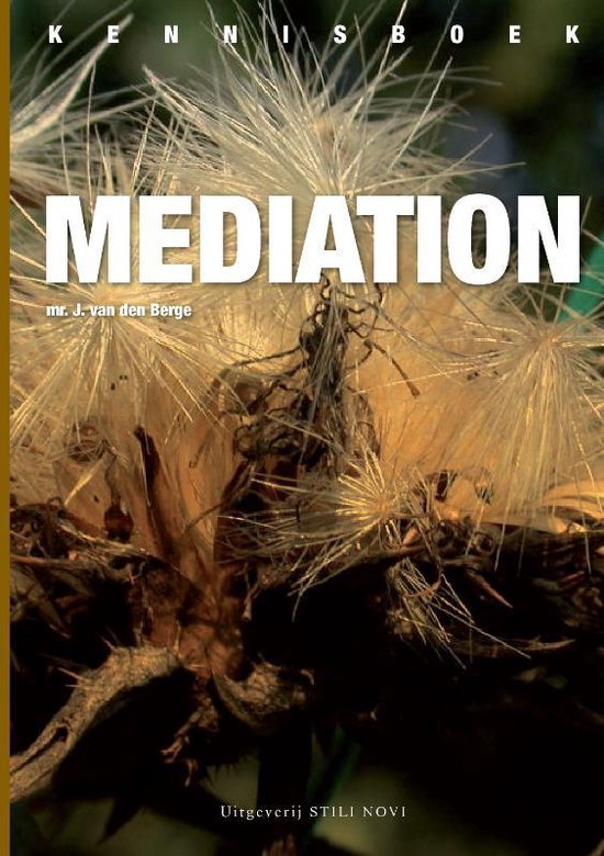 Kennisboek mediation - J. Van Den Berge   Fthsonline.com