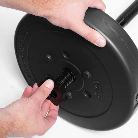 #DoYourFitness® - gewichten / halterschijven van 1,25 kg tot 15 kg - per 2 geleverd - vloervriendelijke plastic halters met 31 mm boring - zwart - 7,5kg