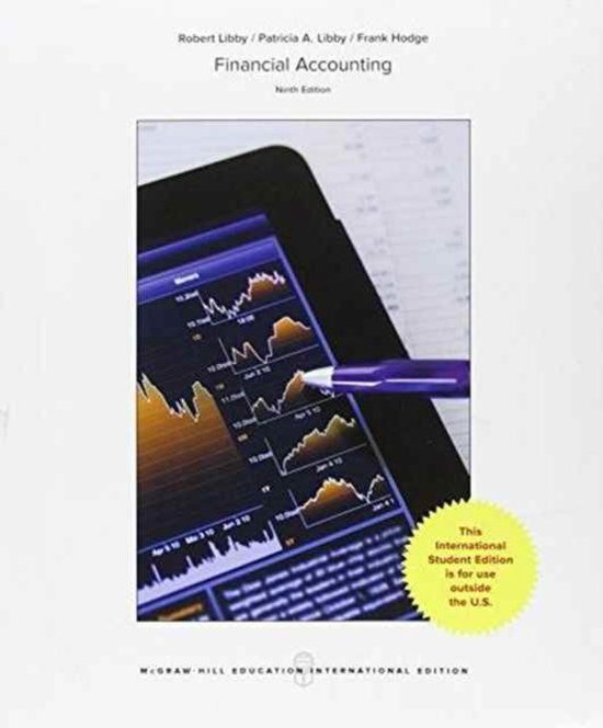 Boek cover FINANCIAL ACCOUNTING 9E van Robert Libby (Paperback)