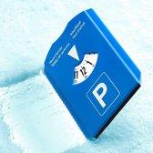 Parkeerkaart met ijskrabber - parkeerschijf