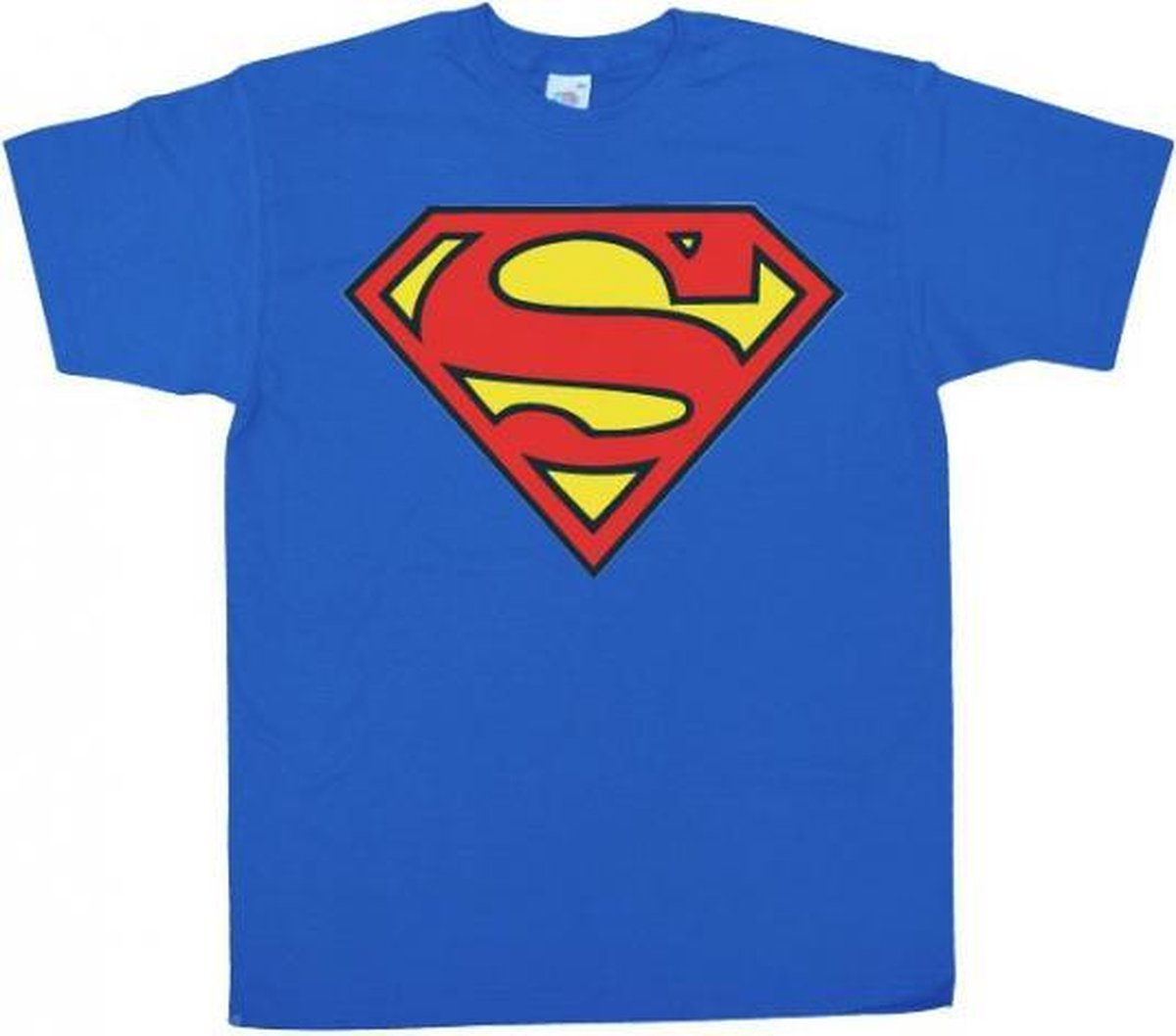 Superman logo t-shirt heren L - DC Comics