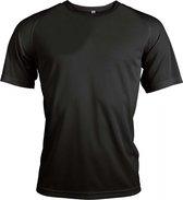 Functioneel Sportshirt - Zwart - Polyester - Maat S
