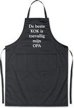 De beste kok is toevallig mijn OPA - Luxe Schort Keukenschort met tekst - Zwart