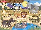 Melissa & Doug Houten Knopjespuzzel - Safari 7-delig