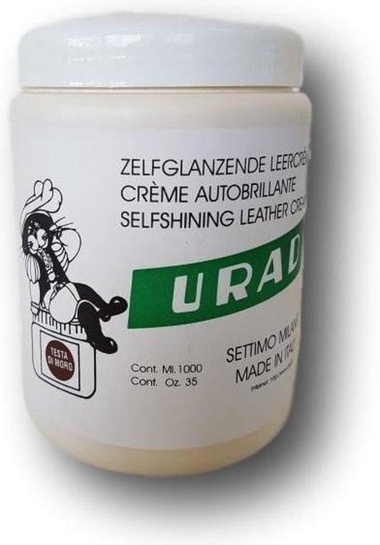 URAD N2 Leder creme zelfglanzend - Donkerbruin - 950 gram