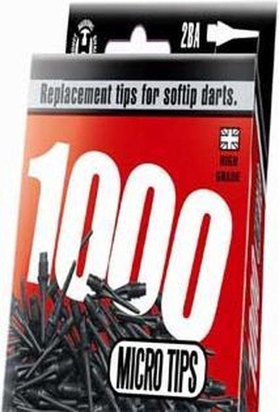 Harrows Softtip punten micro 2ba 1000pcs zwart