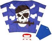 Kindervlieger- Freddy de Piraat - Ready-To-Fly - Eénlijns Super Vlieger - Blauw | Wit