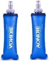 2-pack - 500ML - Opvouwbare Waterfles - Soft flask -BPA Vrij - Zachte Fles - Hardlopen - Camping  -