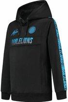 Malelions Junior Warming Up Hoodie - Black/Blue