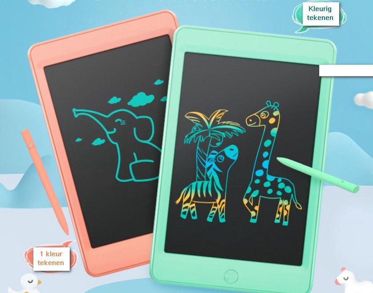 Kinderen LCD Tekenbord Tekentablet MOYU® - Grafische Tablet - Schrijftablet Ontwerppapier Schets Bord- Thuis Onderweg-Zonder Papier-1 Kleur- Meloen Oranje 10inch