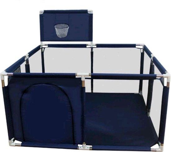 Product: Speelbox Baby Blauw Vierkant - Kinderbox - Playpen - Grondbox - Kruipbox - Kinderen - Peuter - Kleuter - Camping - Kamperen, van het merk Beppie