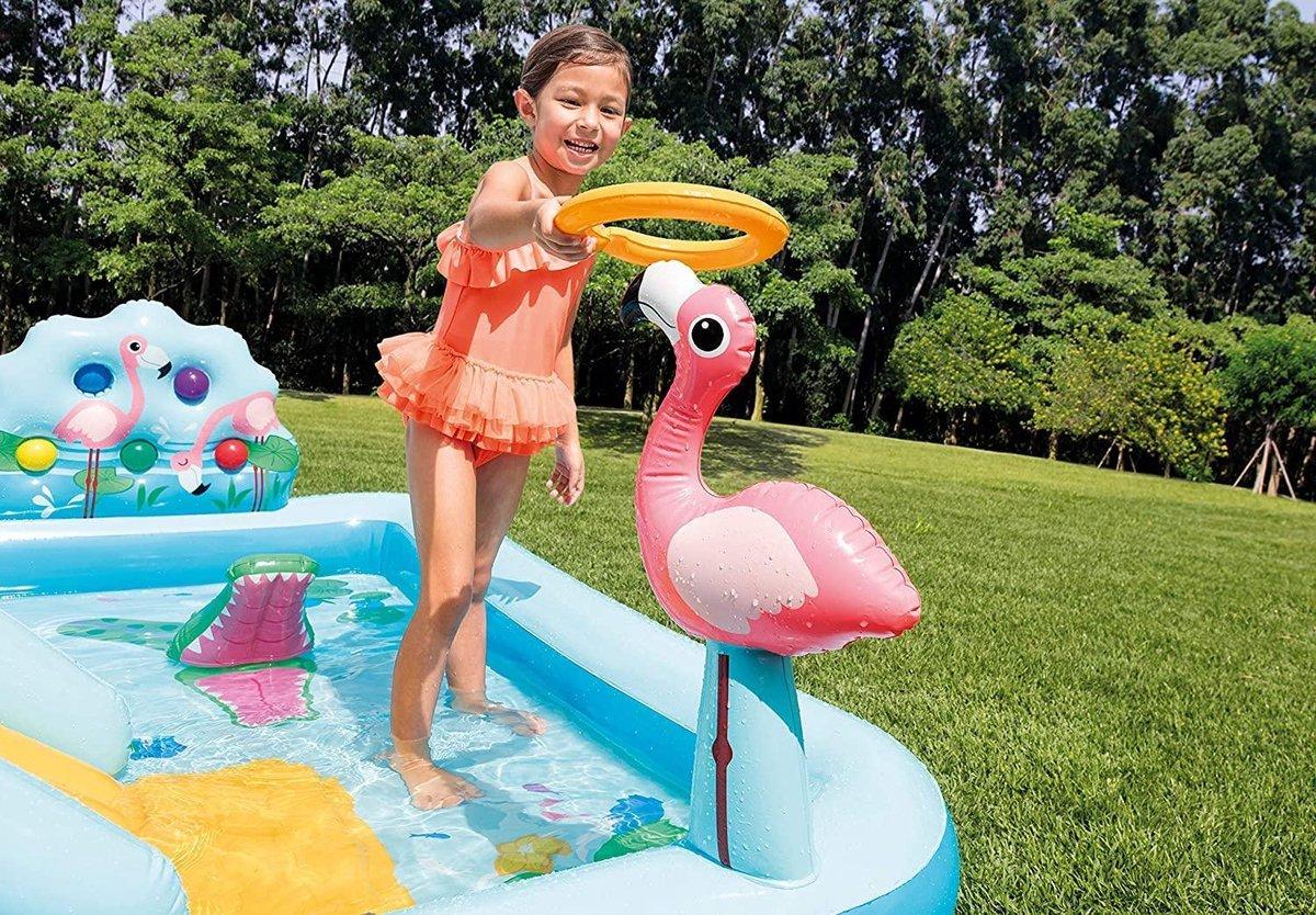 Intex - Zwembad met glijbaan - 2 in 1 zwembad Jungle Adventure