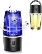 B-care Elektrische muggenlamp - 4000 mAh Batterij - 2-in-1 - Elektrische UV muggenlamp – Elektrische muggenvanger - Geluidloos en Draadloos - Muggenvanger - Insectenverdelger – Vliegenlamp – Muggenvanger – Muggendoder – Mosquitokiller- Antimuggenlamp