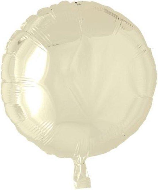 Globos Folieballon Rond 45 Cm Ivoor