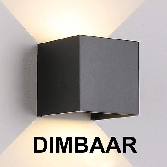 Wandlamp – kubus lamp – voor binnen en buiten – zwart – industrieel – led – 10×10 cm – 12 watt