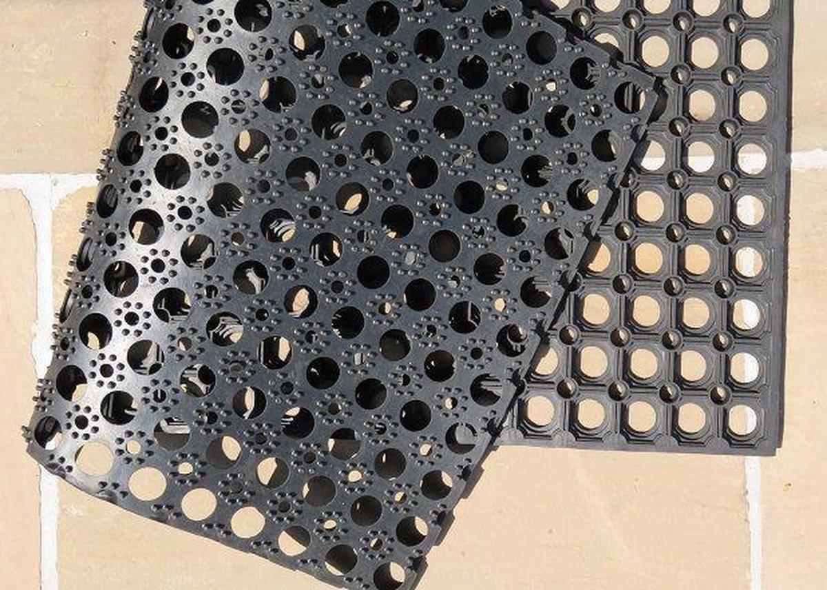 Ikado  Set van 2 rubberen ringmatten 12mm  40 x 60 cm - Ikado