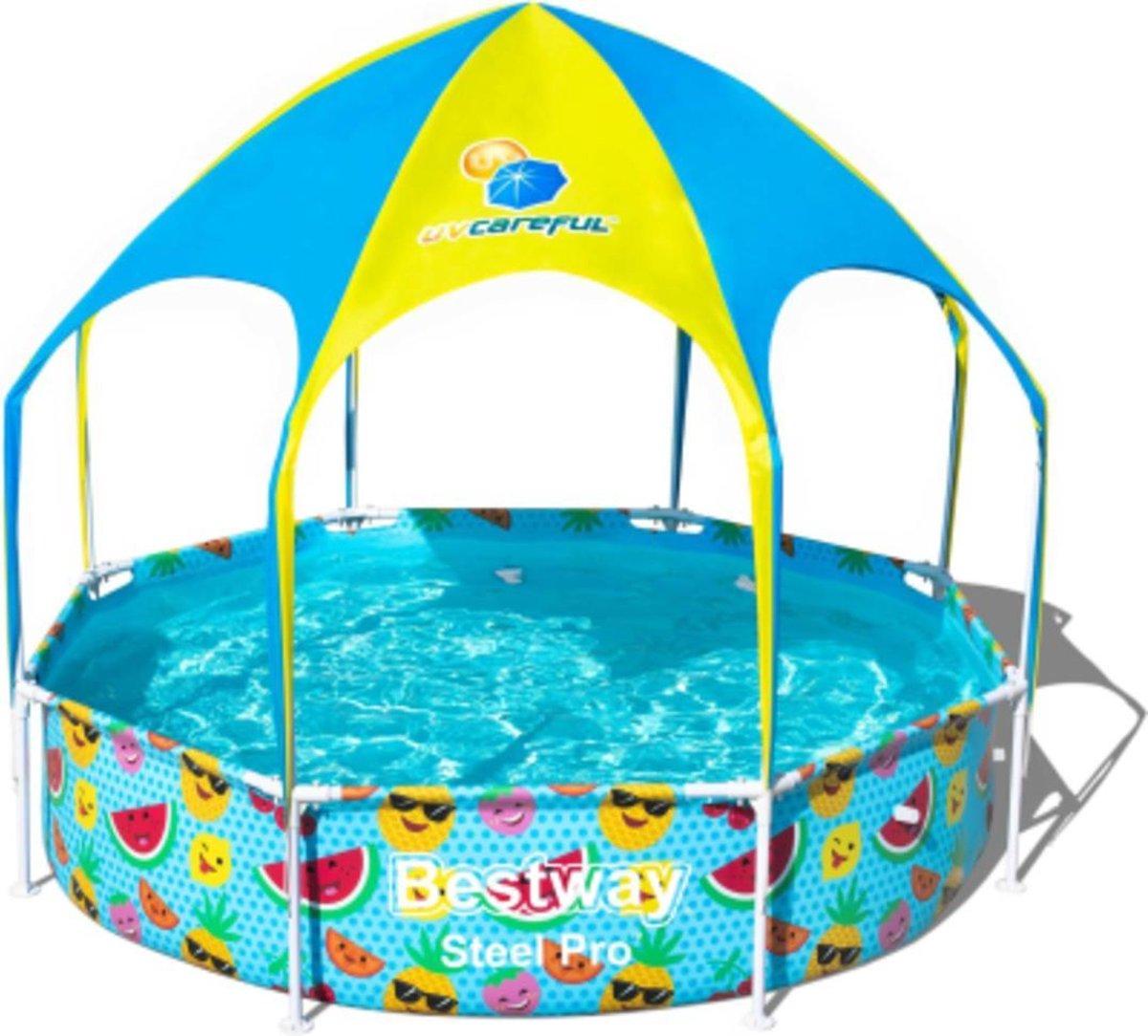 Bestway Opblaaszwembad Splash-in-shade Play 244 Cm Oranje