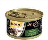 Gimcat ShinyCat - Kipfilet met Gras - 24x70gr - Kattenvoer