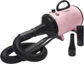 Forgoods® Professionele Hondenföhn - Waterblazer voor Honden - 2800W Verstelbaar Vermogen - Inclusief 3 Opzetstukken - Roze