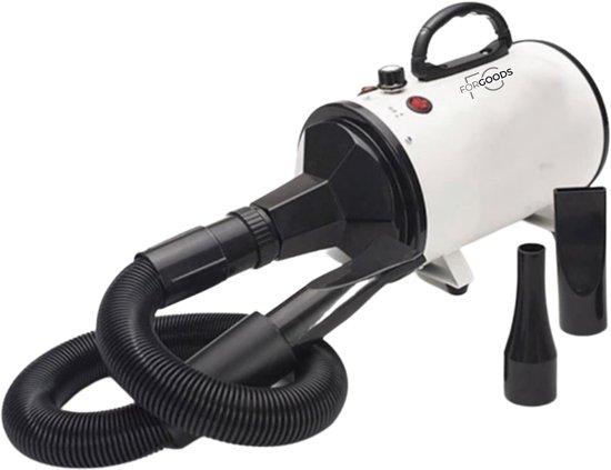 Forgoods® Professionele Hondenföhn - Waterblazer voor Honden - 2800W Verstelbaar Vermogen - Inclusief 3 Opzetstukken - Wit