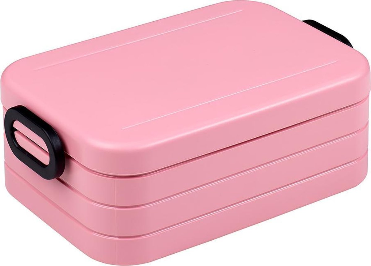 Mepal   Bento lunchbox Take a Break midi- inclusief bento box   Nordic pink   Lunchbox voor volwasse