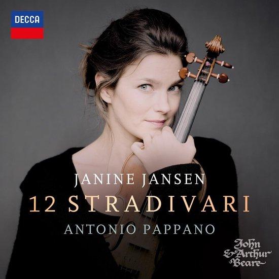 CD cover van Janine Jansen: 12 Stradivari van Antonio Pappano Janine Jansen