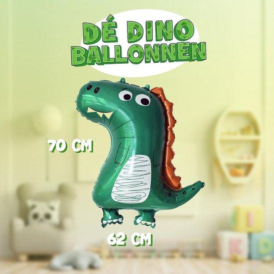 XXL Schattige Dinosaurus Ballon | 70cm hoog | Blaas hem op en beweeg de handen en voeten | Eenvoudig staand neer te zetten of zwevend met helium