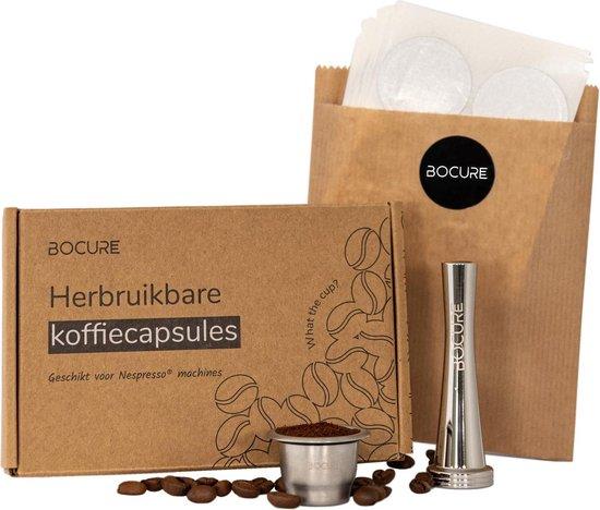BOCURE herbruikbare koffie/thee capsules voor Nespresso - set   1 cup