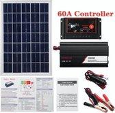 Dakta® Zonnepaneel Systeem | 12V/24V | Omvormer Set | 60A | met Accu | Camper | 18V 20W