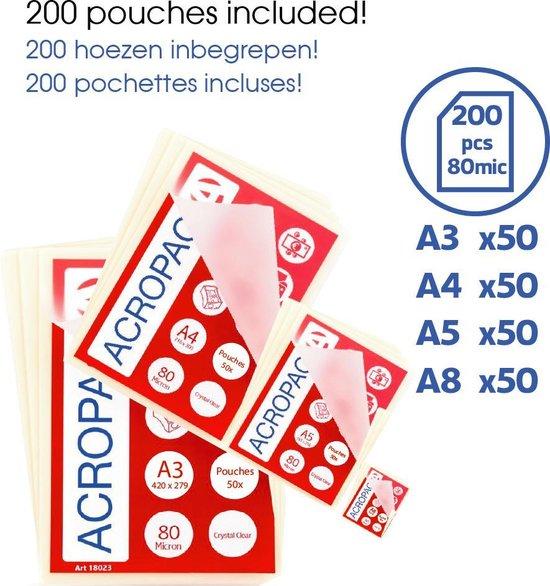 Lamineer set AL390 met 200 hoezen  - Lamineermachine  Trimmer Hoeksnijder en 200 Hoezen