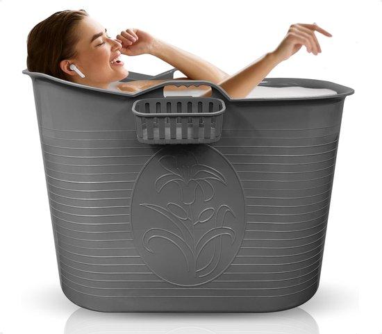 Fentic zitbad voor volwassenen – Bath Bucket – 200L – mobiele badkuip – zitbad voor in de douche - Grijs