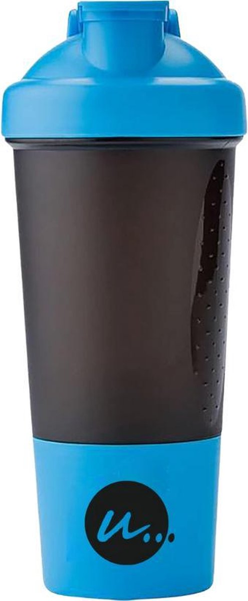 LIFESTYLE 10 SHAKEBEKER   EXTRA BODEM COMPARTIMENT POEDER   MIXBAL   BPA vrij   500ml   Luxe   Stevi