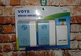 Telebeni Voye Draadloze deurbel met 2 ontvangers op batterijen